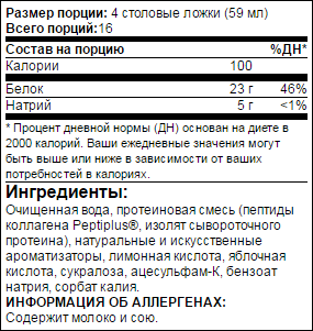 Состав добавки ProSupps Amino 23