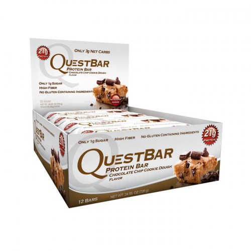 QuestBar Chocolate Chip Cookie Dough 60 g x 12