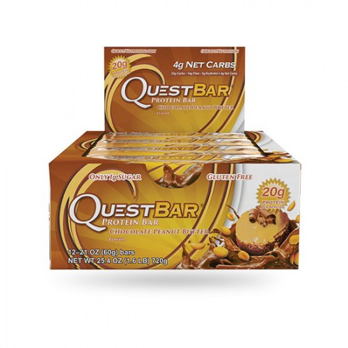 QuestBar Chocolate Peanut Butter 60 g x 12