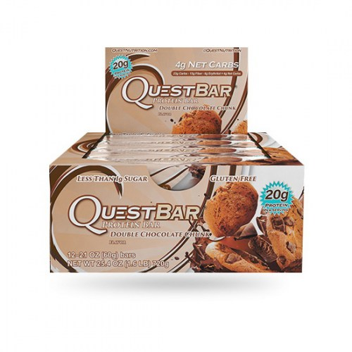 Questbar Double Chocolate Chunk 60 g x 12