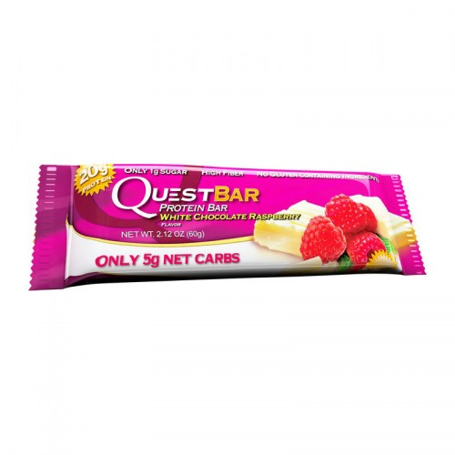 QuestBar White Chocolate Raspberry 60 g