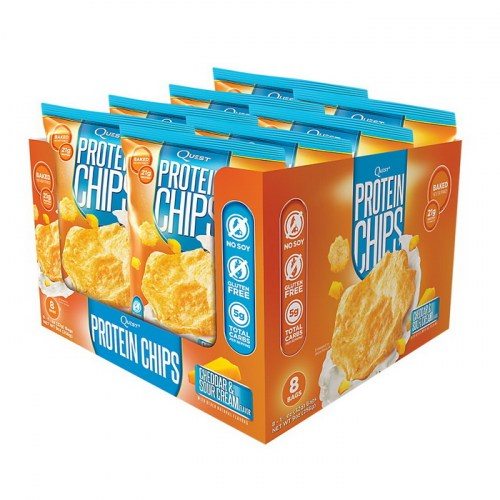 Quest Protein Chips Cheddar & Sour Cream 32 g x 8